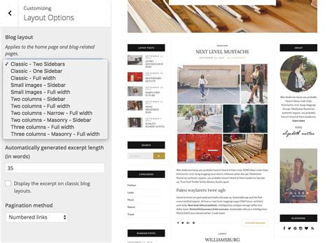 wordpress layout options olsen blogging theme for wordpress