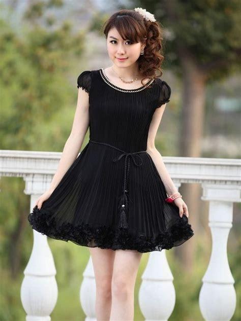 Korea Mini Dress korean style ruched sleeve mini dress