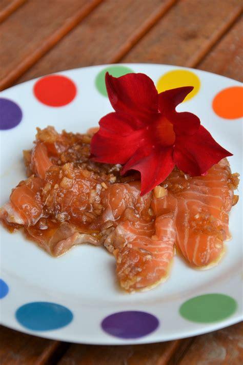 cucinare con zenzero fresco carpaccio di salmone con zenzero fresco e salsa di soia