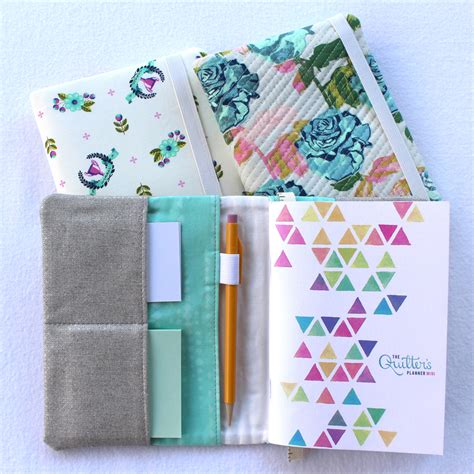 pattern for notebook case pocket notebook cover pattern by sewfinity the quilter s