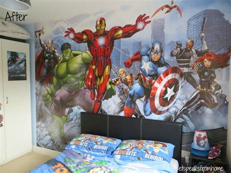 marvel bedroom wallpaper photos and video dulux avengers assemble mural review et speaks from home