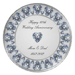 60th wedding anniversary color 60th wedding anniversary plate zazzle