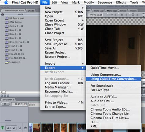 final cut pro quicktime conversion exporting video from final cut pro to mp4 for transcription
