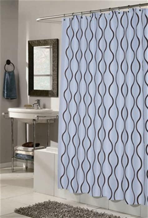 brown hookless shower curtain geneva blue brown fabric hookless shower curtain