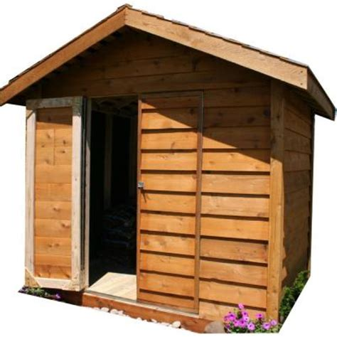 lumber 8 ft x 6 ft cedar storage shed discontinued