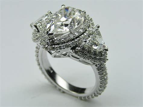 shaped engagement ring pear shaped engagement rings sets hd ring diamantbilds
