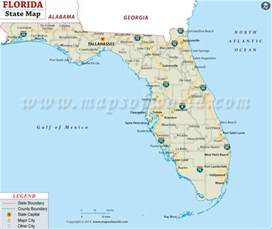 florida map of state buy state map of florida