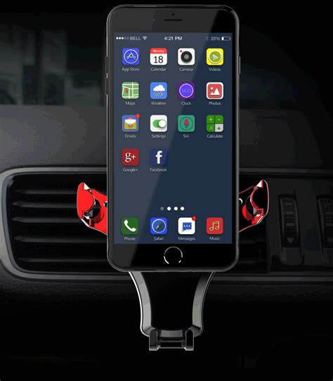 360 Degrees Auto Lock Car gravity lock car air vent phone holder 360 degrees rotation adjustable bracket stand for iphone