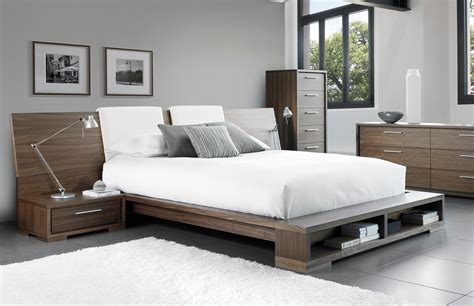 modern queen beds modern queen bed with two hanging nightstands in natural