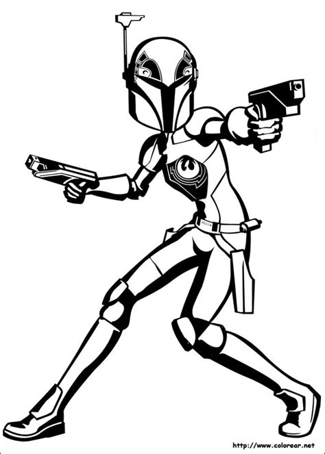 star wars ezra coloring page dibujos para colorear de star wars rebels