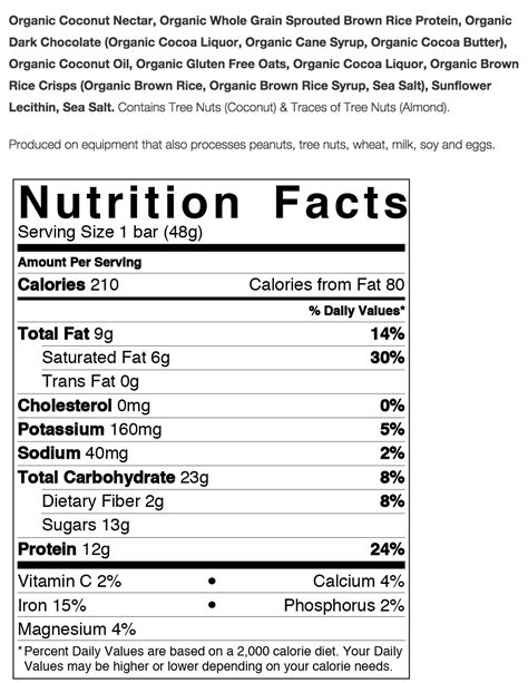 protein i gg squarebar organic protein bars nutrition facts