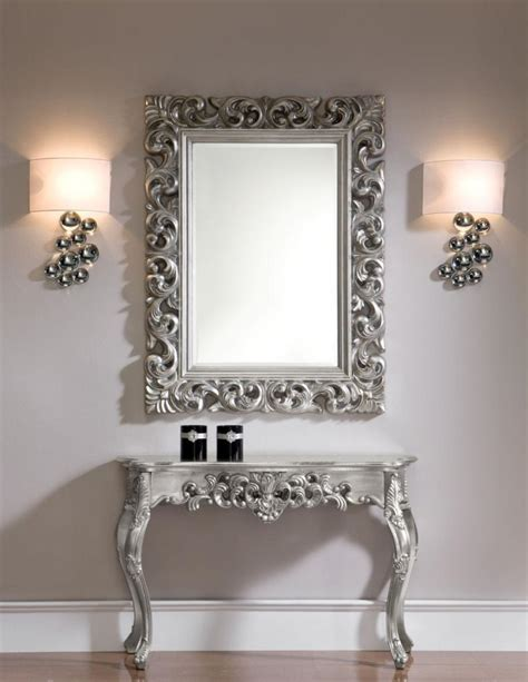 Hallway Console Table And Mirror Ornate Console Table With An Optional Mirror In Silver Or Gold Colour Finish