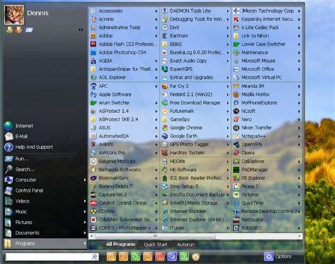 themes for windows 7 start menu customize start menu in windows 7 xp and vista
