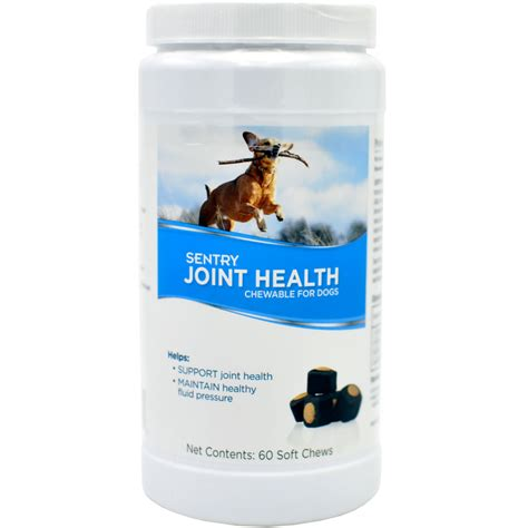 joint health for dogs sentry joint health chewable for dogs 60 soft chews healthypets