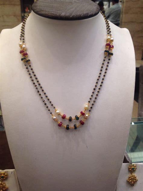 bead chains black or nallapusalu boutiquedesignerjewellery