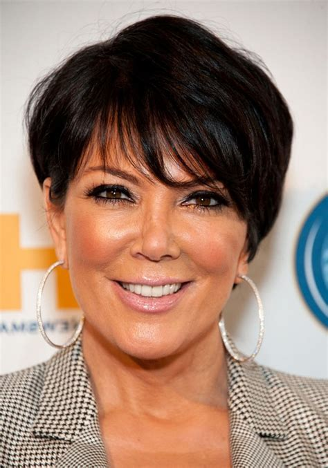 short haircuts with bangs for over 50 kris jenner short layered haircut with bangs for women