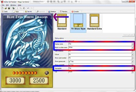 Yugioh Card Template Magic Set Editor by Yu Gi Oh 4kids Anime Template Complete Magic