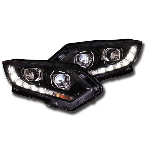 Led Projector Hrv Led Projector Headlights Drl Fog Light Bi Xenon Lens For Honda Hrv 2014 2016 Ebay
