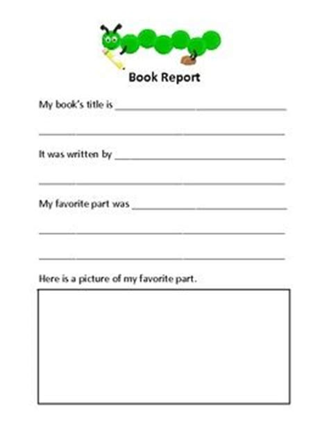 book report format for elementary elementary book report education