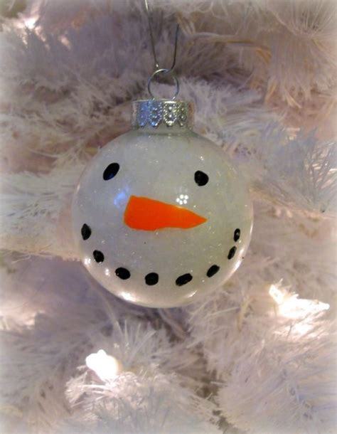 clear ornaments craft ideas snowman clear glass and glass ornaments on