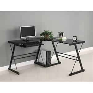 walker edison computer desk walker edison soreno 3 corner desk black with black