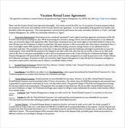 Car Vacation Rental Agreement Sle Rental Agreement Template 8 Free Documents