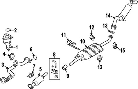 2003 ford escape exhaust system diagram 2010 ford escape xlt 4 cyl 2 5l exhaust components