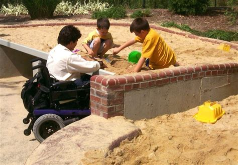 play sand for sand universally designed sand play can roll up to it climb