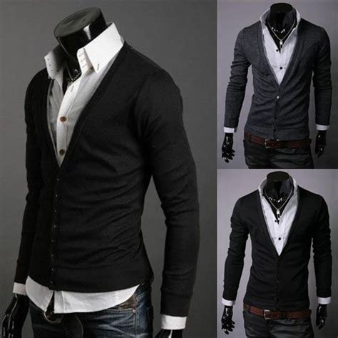 fashion slim casual mens sweaters mens cardigan sweaters