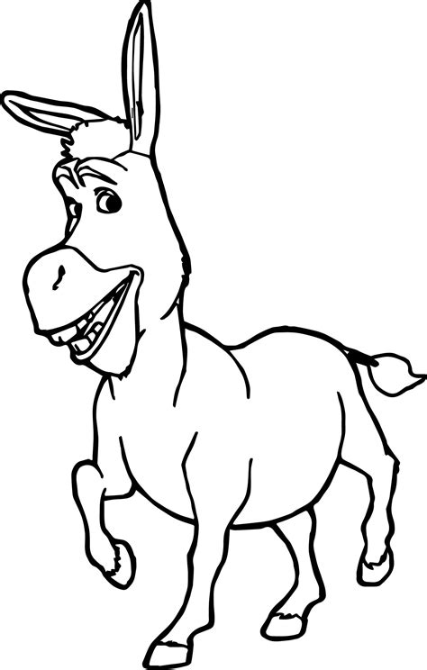 coloring pages of donkey from shrek donkey shrek coloring page wecoloringpage