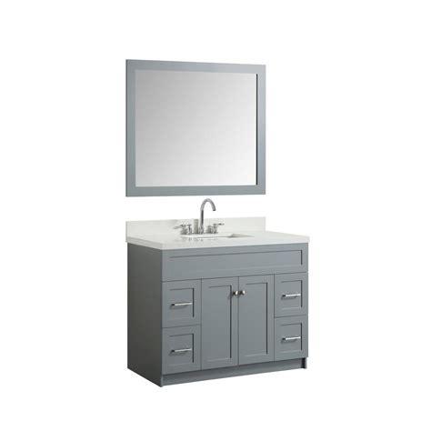 43 bathroom vanity top ariel 43 in bath vanity in grey with quartz vanity top in