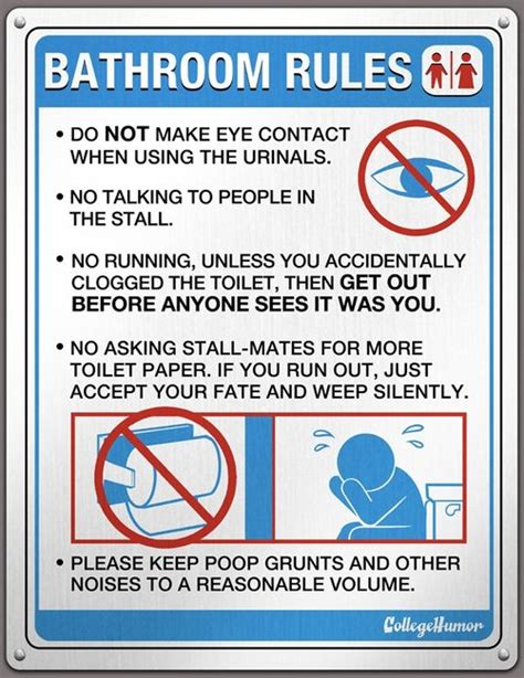 bathroom rule bathroom rules gentlemint