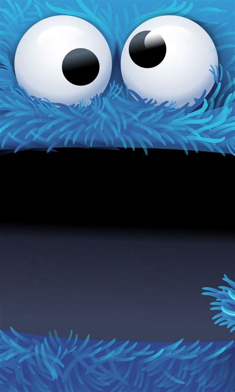 wallpaper for iphone cookie monster cookie monsters cute bigface cartoon iphone wallpaper