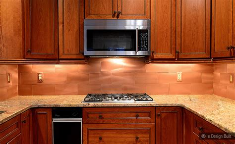 copper kitchen backsplash ideas copper color large subway backsplash backsplash