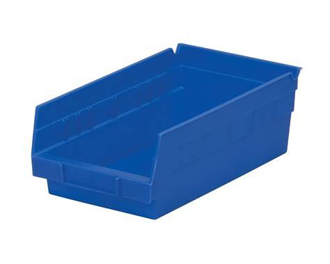 stackable plastic shelves allpurpose stacking storage plastic container shelf bins blue 12pk 11x11 12x4 bins cabinets