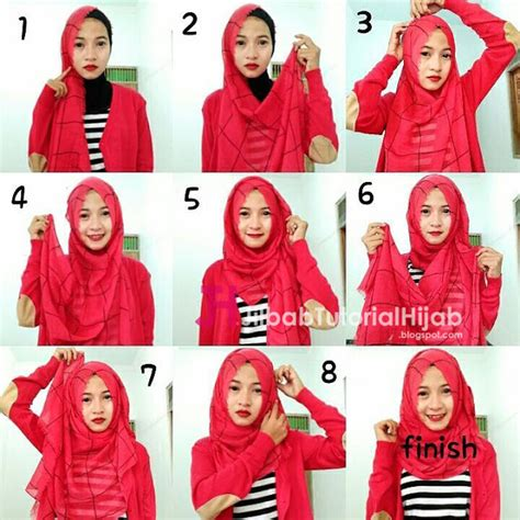 tutorial hijab pashmina sederhana cara memakai jilbab sederhana sehari hari tutorial terbaru