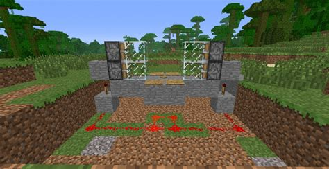 How To Make A Redstone Door by Redstone Door Step 4 Redstone And Fence