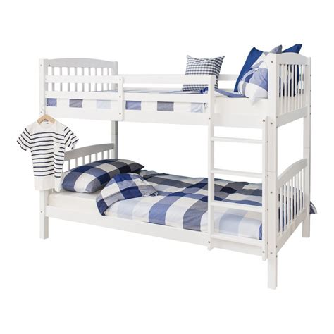Bunk Beds Single Brighton Single Bunk Bed In White Noa Nani
