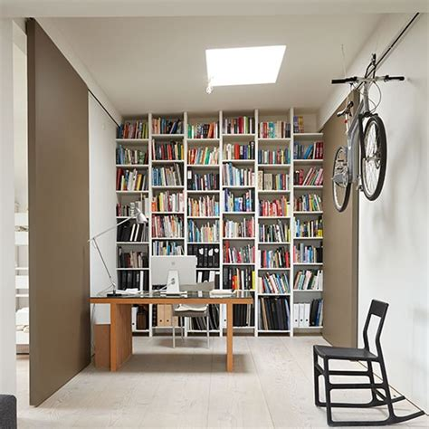 floor to ceiling bookcase with desk home office with floor to ceiling shelves decorating