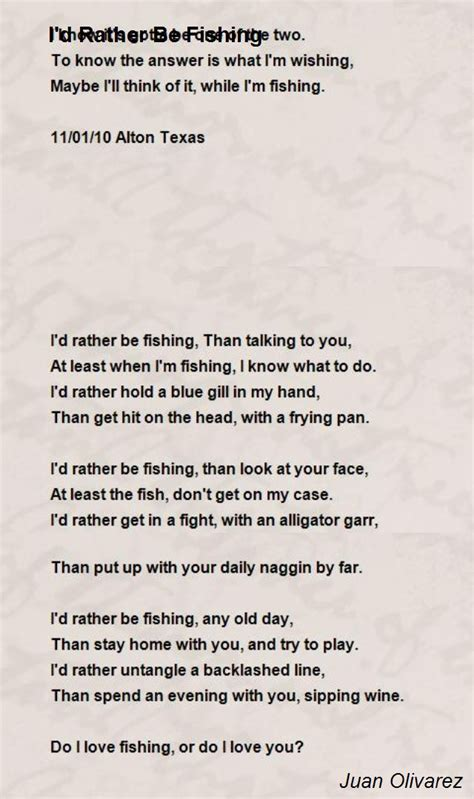id   fishing poem  juan olivarez poem hunter