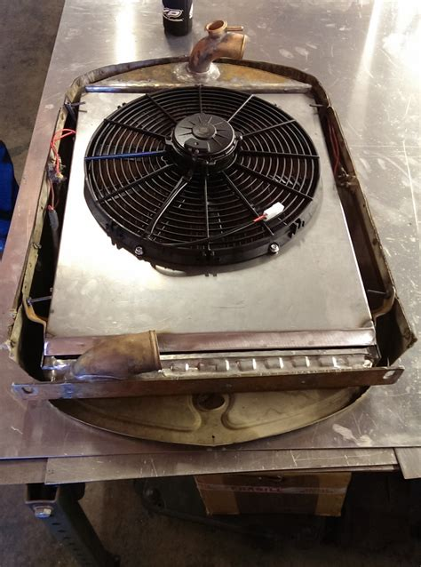 electric radiator fans and shrouds 1930 ford model a stede rod custom radiator electric