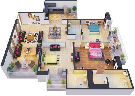 Jack And Jill Floor Plans 1100 sq ft 2 bhk 2t apartment for sale in the antriksh