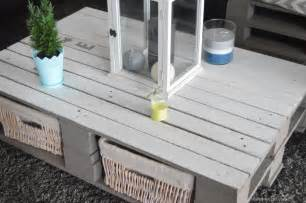 diy table basse palette bricolage table