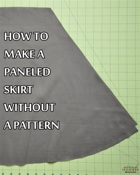 How To Make A Paper Pattern For Sewing - how to make skirt pattern