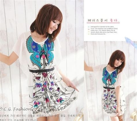Tf31336 Blue Apricot Flower Dress Import Korea baju korea murah ready stock