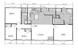 wide floor plans inspiring wide house plans 6 double wide mobile home floor plans smalltowndjs com