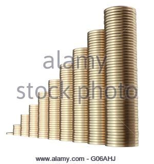 piles of money in the form of cash and gold coins, with