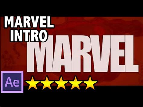 tutorial intro marvel after effects free 2d intro 64 marvel studios identity free after