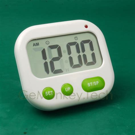 dual alarm travel desktop timer lcd vibration clock countdown blue backlight ebay