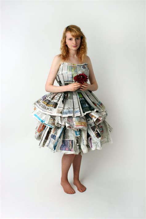 How To Make Paper Costumes - newspaper dress by mahrib on deviantart
